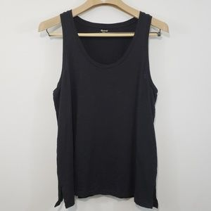 Madewell Tank | Black 100% Cotton Large